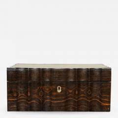 Indian Ebony Scalloped Sided Box - 664463