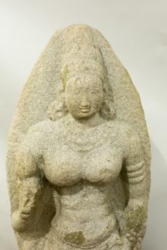 Indian Grey Granite Figure of Bhudevi - 1499802