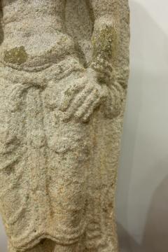 Indian Grey Granite Figure of Bhudevi - 1499804
