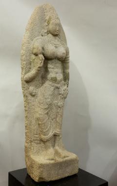 Indian Grey Granite Figure of Bhudevi - 1499806