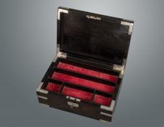 Indian Silver and Ebony Box - 1233851