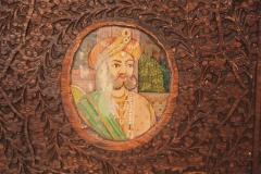 Indian Vine Carved Eglomise Plaqued Corner Cabinet - 1465888
