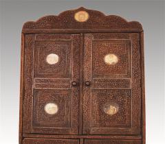 Indian Vine Carved Eglomise Plaqued Corner Cabinet - 1465943