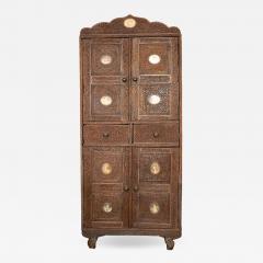 Indian Vine Carved Eglomise Plaqued Corner Cabinet - 1466269