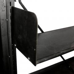 Industrial 1912 Carnegie Library Freestanding Steel Bookshelf - 185093