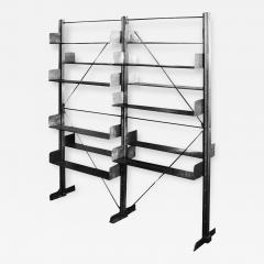 Industrial 1912 Carnegie Library Freestanding Steel Bookshelf - 185112