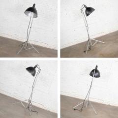 Industrial pair of photographers floor lights tripod base aluminum steel - 1693088