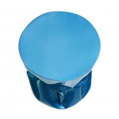 Ines Benavides Contemporary Modern Sculptural Metal Lacquered Blue Seat Side Table - 1066348