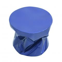 Ines Benavides Contemporary Modern Sculptural Metal Lacquered Blue Seat Side Table - 1317573