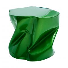 Ines Benavides Contemporary Modern Sculptural Metal Lacquered Green Seat Side Table - 1066319