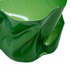 Ines Benavides Contemporary Modern Sculptural Metal Lacquered Green Seat Side Table - 1066322