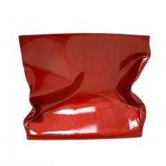 Ines Benavides Contemporary Modern Sculptural Metal Lacquered Red Seat Side Table - 1066299