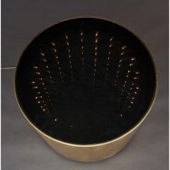 Infinity Illuminated Round Side Table Italy 1970s - 1898328