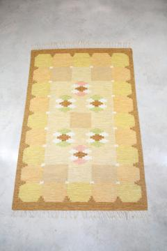 Ingegerd Silow Swedish Yellow Flat Weave R lakan rug - 693691