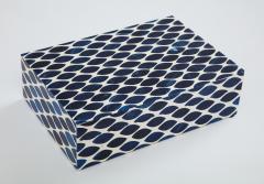 Ink Blue Cream Resin Fishnet Box - 1576436