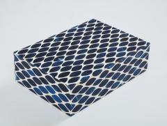 Ink Blue Cream Resin Fishnet Box - 1576437