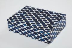 Ink Blue Cream Resin Fishnet Box - 1576438