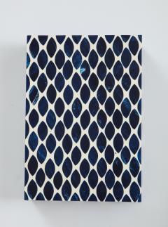 Ink Blue Cream Resin Fishnet Box - 1576440