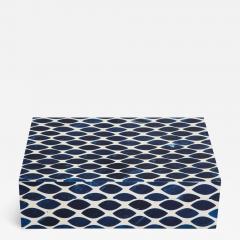 Ink Blue Cream Resin Fishnet Box - 1577106