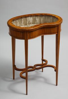 Inlaid satinwood vitrine table - 1372974