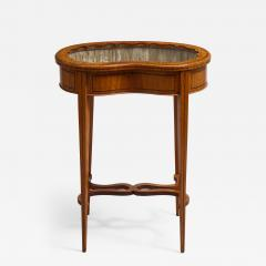 Inlaid satinwood vitrine table - 1447085