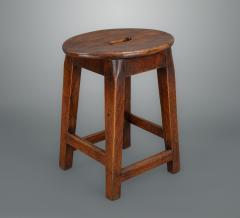 Interesting 18th Century Elm Stool - 1131745