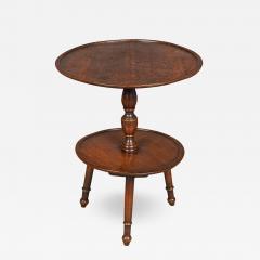 Interesting Georgian Oak Dumb waiter or Cricket Table - 994915