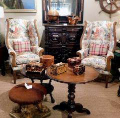 Inviting Pair of English Country Style Wing Chairs - 1955674