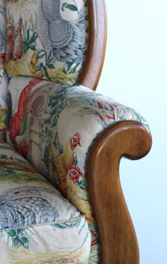 Inviting Pair of English Country Style Wing Chairs - 1955675