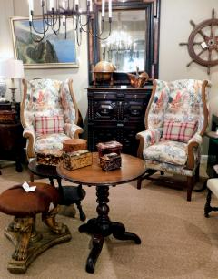 Inviting Pair of English Country Style Wing Chairs - 1955677