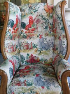 Inviting Pair of English Country Style Wing Chairs - 1955678