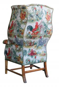 Inviting Pair of English Country Style Wing Chairs - 1955679