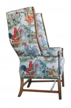 Inviting Pair of English Country Style Wing Chairs - 1955680