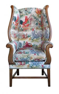 Inviting Pair of English Country Style Wing Chairs - 1955681