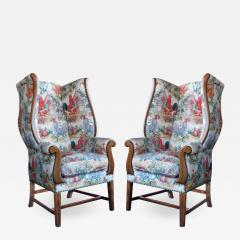 Inviting Pair of English Country Style Wing Chairs - 1957118