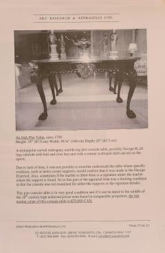 Irish George II Table Circa 1740 - 1820301