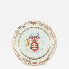 Irish Market Chinese Export Armorial Plate c 1750 - 1209772