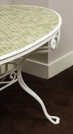 Iron Tile Top Garden Table - 1237755