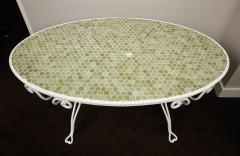 Iron Tile Top Garden Table - 1237756