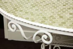 Iron Tile Top Garden Table - 1237758