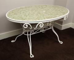 Iron Tile Top Garden Table - 1237760