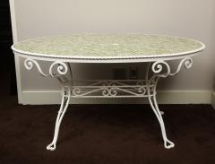 Iron Tile Top Garden Table - 1237761