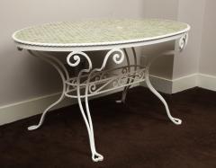 Iron Tile Top Garden Table - 1237763