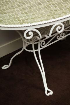 Iron Tile Top Garden Table - 1237764