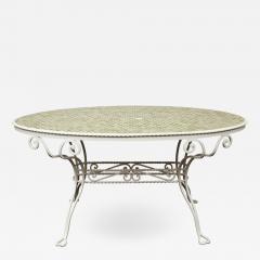 Iron Tile Top Garden Table - 1241711