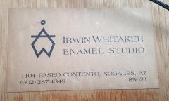 Irwin A Whitaker Canyon De Chelly Enamel by Irwin Whitaker - 1900664