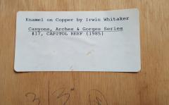 Irwin A Whitaker Capitol Reef Enamel by Irwin Whitaker - 1900644