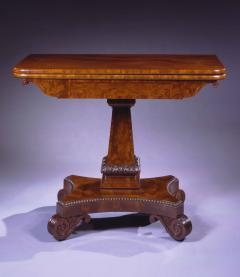 Isaac Vose Carved Mahogany Games Table - 388638