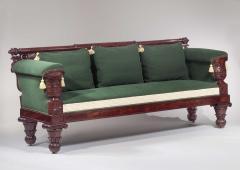 Isaac Vose Classical Carved Mahogany Sofa - 1226535
