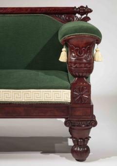 Isaac Vose Classical Carved Mahogany Sofa - 1226536